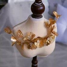 Pasadores de boda con diamantes de imitación dorada, diademas nupciales suaves, accesorio para el cabello de boda, tocado de Graduación