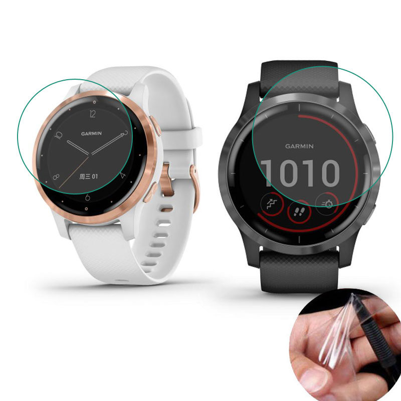 Soft Clear Protective Film Guard For Garmin Vivoactive 4/4S GarminActive S Watch Vivoactive4 Screen Protector Cover (Not Glass)