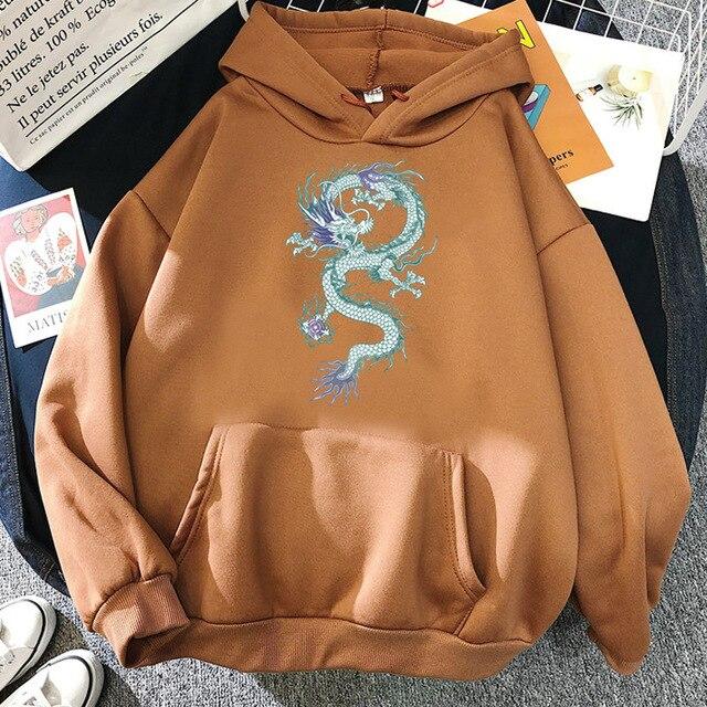 Cool Dragon Plus Size Print Sweatshirts Women Oversized Tops Hoodies Female Pullovers Casual Hoody Harajuku Korean Style Clothes 6