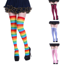 Hot Sale Cotton Thigh For Ladies High Over The Knee Stockings Sexy Fashion Striped Socks Women Warm Long Stocking