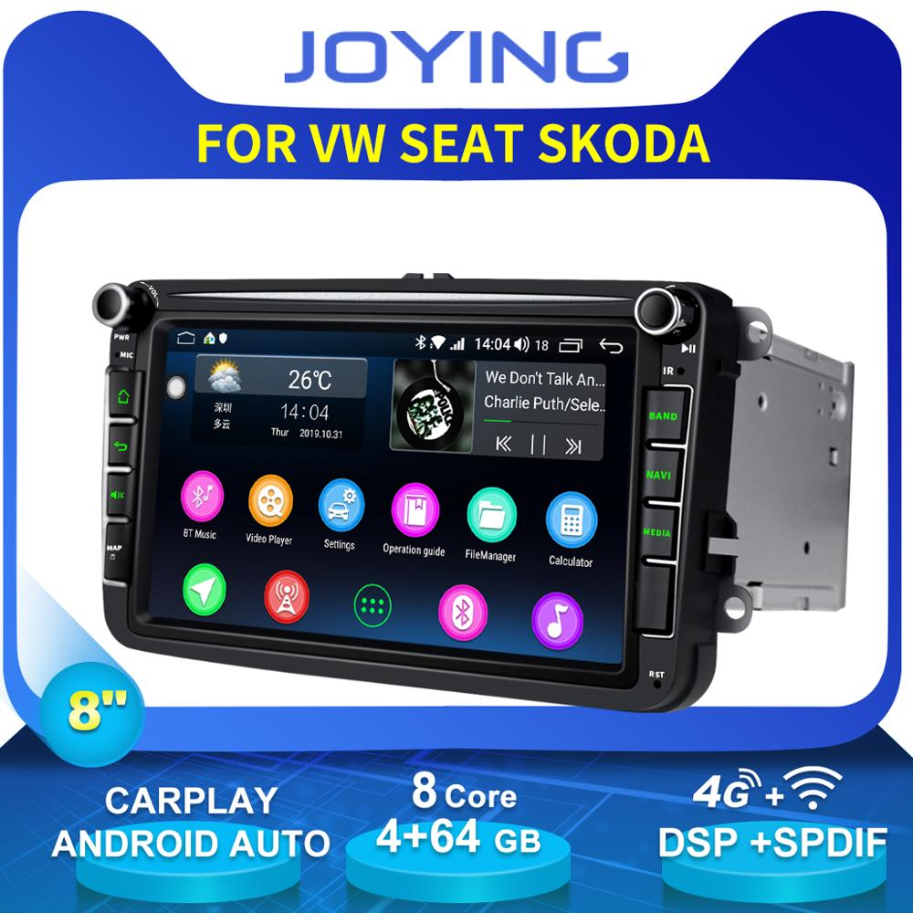Joying 8Head Unit Android Car Radio Stereo For Volkswagen VW Skoda POLO GOLF PASSAT GPS Multimedia Player Wireless Carplay 4G image