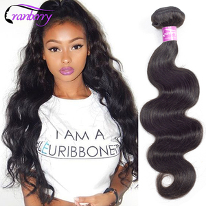 """Cranberry Hair 8-26"""" Body Wave Bundles Can Buy 1/3/4 Bundles Brazilian Hair Weave Bundles Remy Human Hair Bundles Natural Color(China)"""