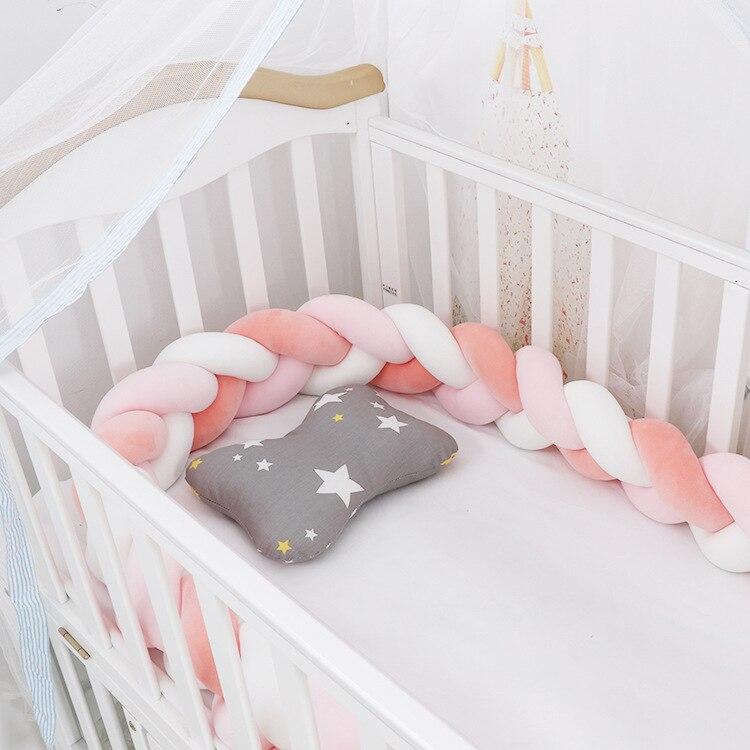 3M Length Baby Bedding 3Braid Knot Pillow Baby Room Decoration Protetor De Berço Baby Bed Bumper