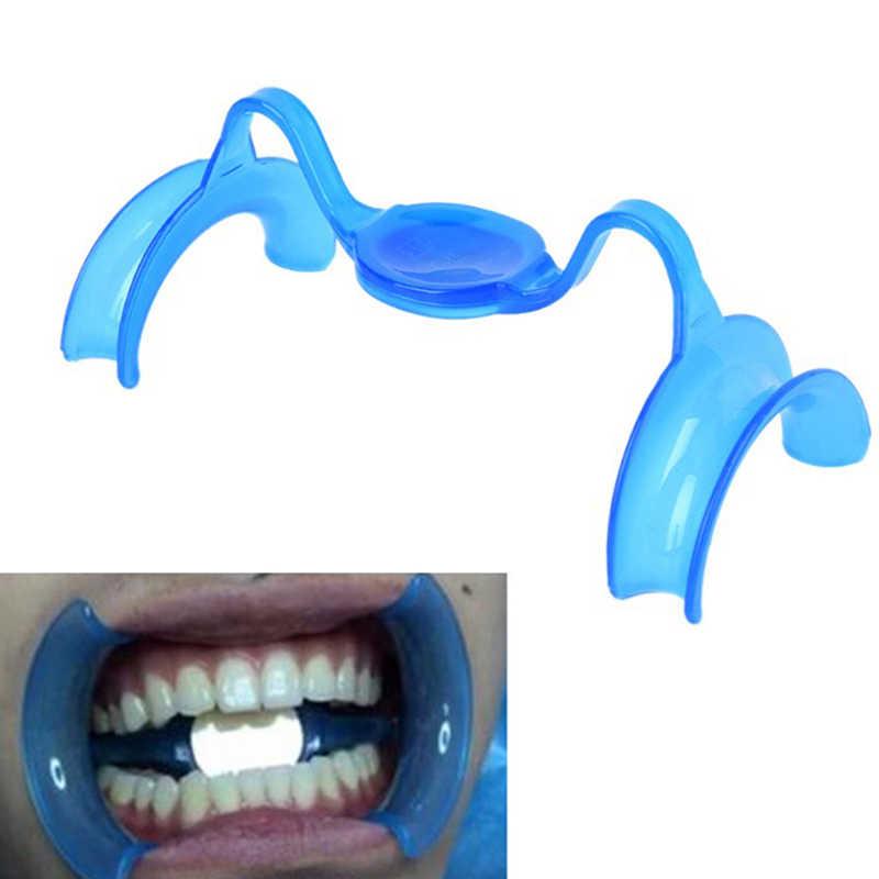 2 ชิ้น/เซ็ตวัสดุทันตกรรม Blue M ประเภท Intraoral Cheek Retractor ฟัน Whitening เปิดปากทันตแพทย์อุปกรณ์กระจก