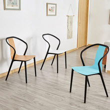 цена на Modern Leisure Plastic Chair Dining Chairs for Dining Rooms Restaurant Furniture Outdoor Cafe Living Room Bedrooms Kitchen Chair