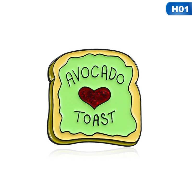 Broches à pain paillettes rouge coeur plante Fruit végétarien nourriture broche T-shirt émail revers chapeau épingle Vegan Hipster Brunch cadeaux