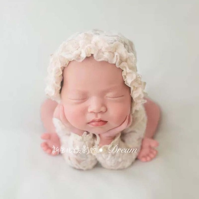 0-3Months Baby Photo Costume Infant Princess lace cap jumpsuit Newborn Baby Photography Props Girl Theme Studio Accessories
