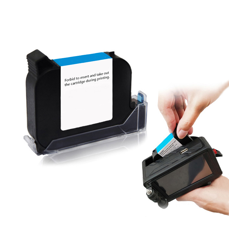 Black And Colorful Ink Cartridge 42ml For 12.7mm Industrial Handheld Inkjet Printer H2