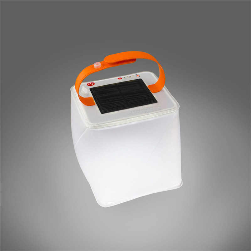 Collapsible Solar Inflatable Lanterns Survival Emergency Foldable Telescopic Airbag Waterproof USB Light For Camping Equipment