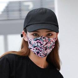 1pc bawełna przeciwkurzowe maska ochronna na twarz Unisex maska z karbonową różową maską muflową 1