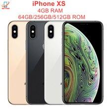 Оригинальный Смартфон Apple iPhone XS, 5,8 дюйма, ОЗУ 4 Гб ПЗУ 64 Гб/256 ГБ/512 ГБ, шестиядерный, IOS A12 Bionic NFC LTE 4G, сотовый телефон