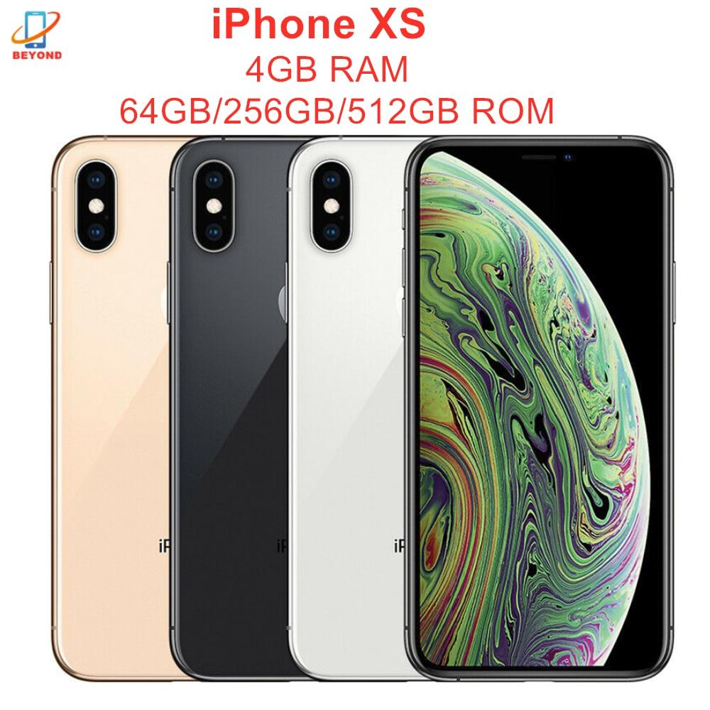 "Original Apple iPhone XS 5.8 ""Gesicht ID RAM 4GB ROM 64GB/256GB/512GB smartphone Hexa Core IOS A12 Bionic NFC LTE 4G Handy"