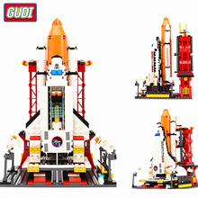 GUDI 679Pcs City Spaceport Space Shuttle Launch Center Building Blocks Bricks Educational Toys For Kids Compatible Legoingly