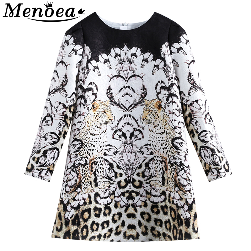 Menoea Children Winter Dress 2019 New Fashion Style Kids Long-Sleeve Animals Pattern Dress Design 3-14Y Exquisite Clothes Dress