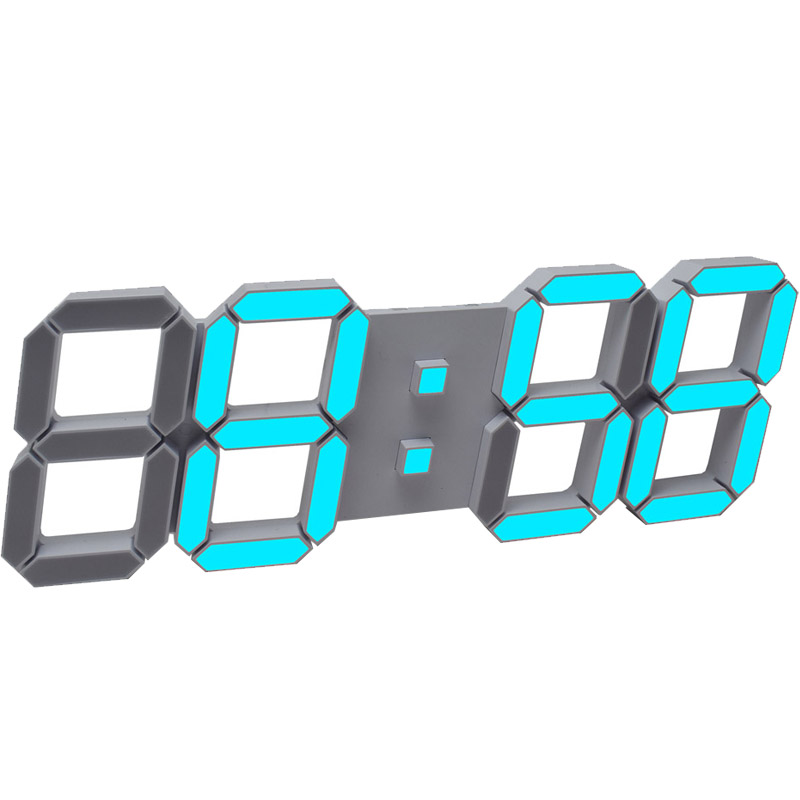 LED mute smart luminous wall clock alarm clock living room bedroom creative electronic big clock perpetual calendar LB32810