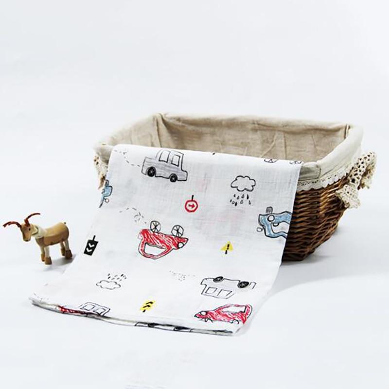 Купить с кэшбэком Newborn Baby Muslin Blanket Bath Towel Gauze Towels Stroller Swaddle soft kids Bedding Breathable multifunction