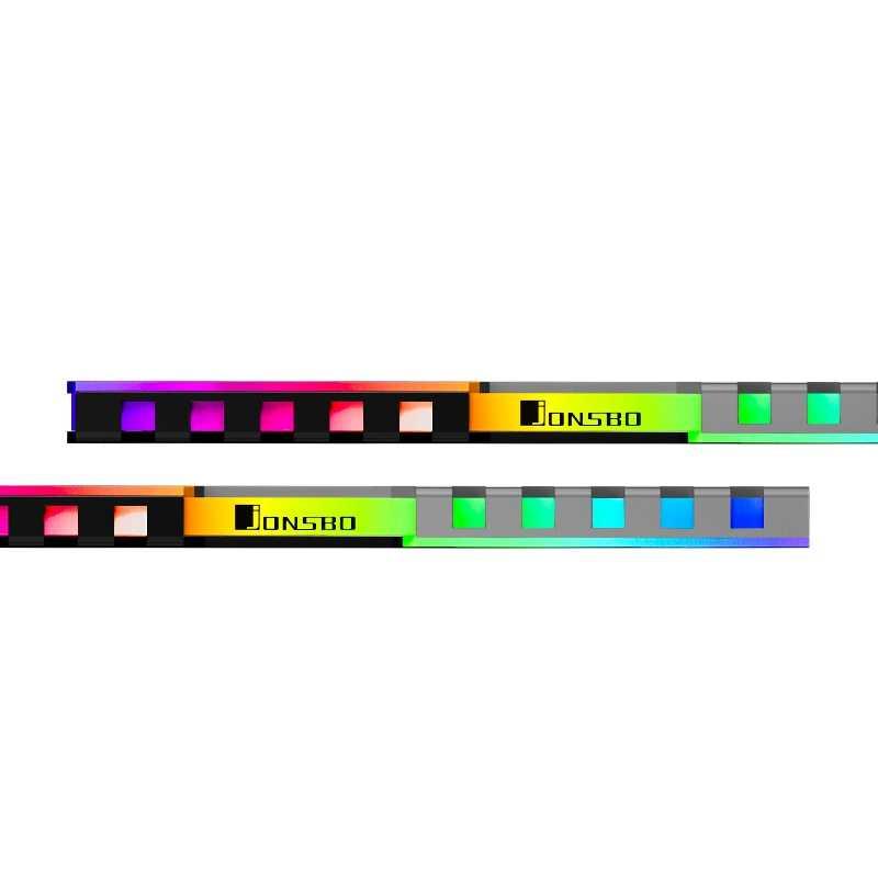 Aaaj-JONSBO NC-2 4Pcs Memori RAM Heatsink Cooler Dukungan Desktop Papan Utama Aura Kontrol Warna RGB Paduan Aluminium Cooler shell
