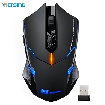 VicTsing Wireless Gaming Mouse  Color Backlit 2400 DPI  7 Programmable Buttons Gamer for Dota