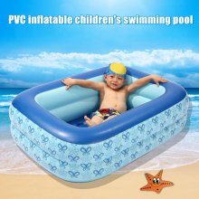 PVC Rectangular Inflatable Swimming Pool Children Home Courtyard Garden Swimming Pool CLH@8