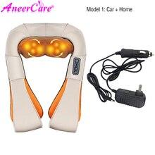 цена на shiatsu msajeador neck massager electric vibromassage electric back and neck massager Infrared heated kneading car home massagem