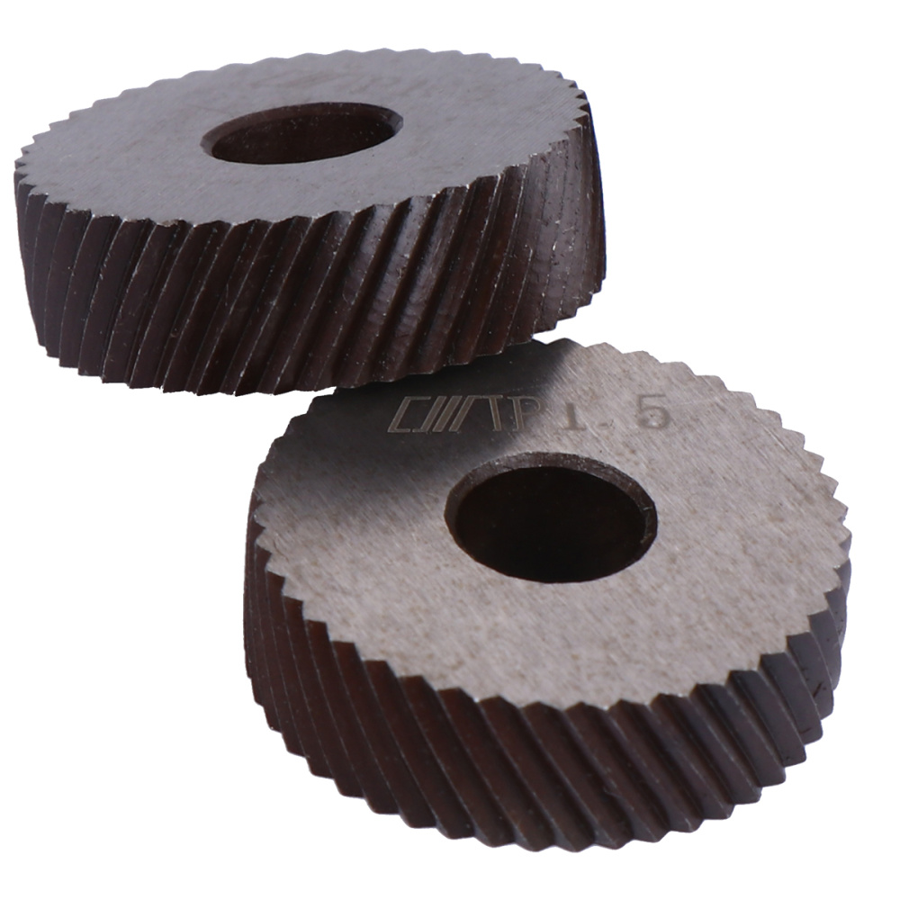 Dual Wheel Knurling Tool Diagonal Wheel Linear Pitch Knurl Set Machine Tools (Only Net Grain Knurling Wheel)