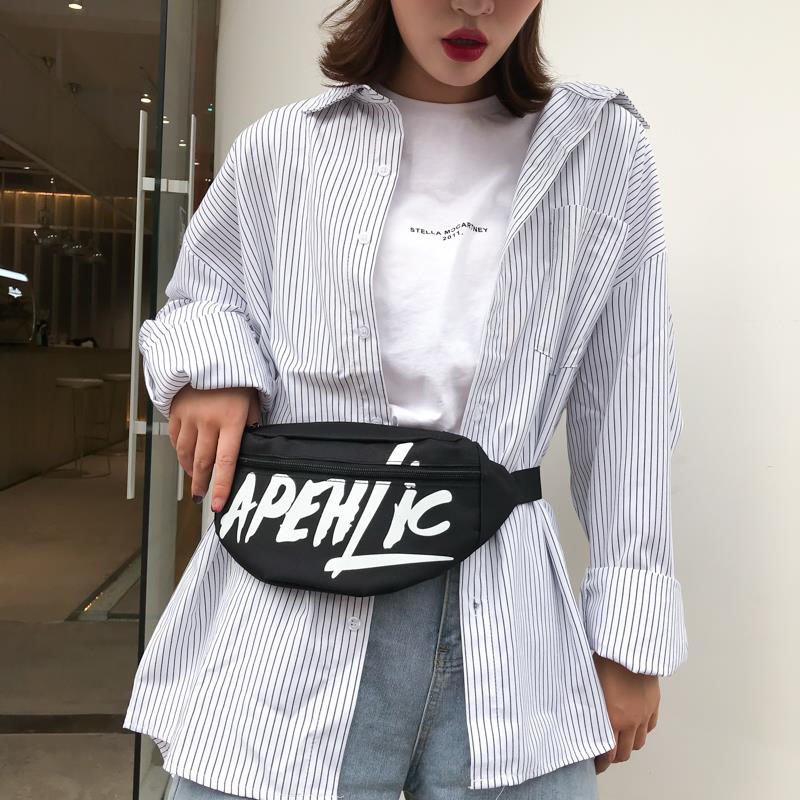 Women Waist Bag Men Chest Bag Hip Bag High Capacity Belt Bag Banana Bag Unisex Waist Pack Kidney Men's Canvas Crossbody Bag