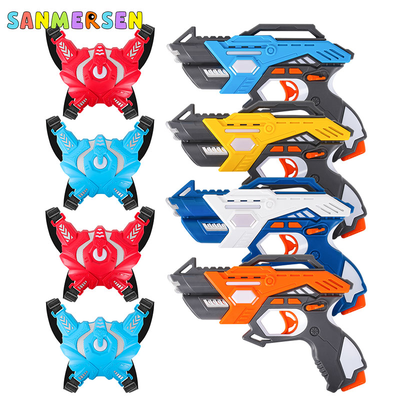 Infrared Laser Tag Electric Light Toy Guns Blaster Laser Battle Set Parent-Child Interaction Gun Game For Kids Adults Sports Toy