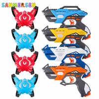 Infrared Laser Tag Electric light Toy Guns Blaster Laser Battle Set Parent-Child Interaction Gun Game for Kids Adults Sports Toy