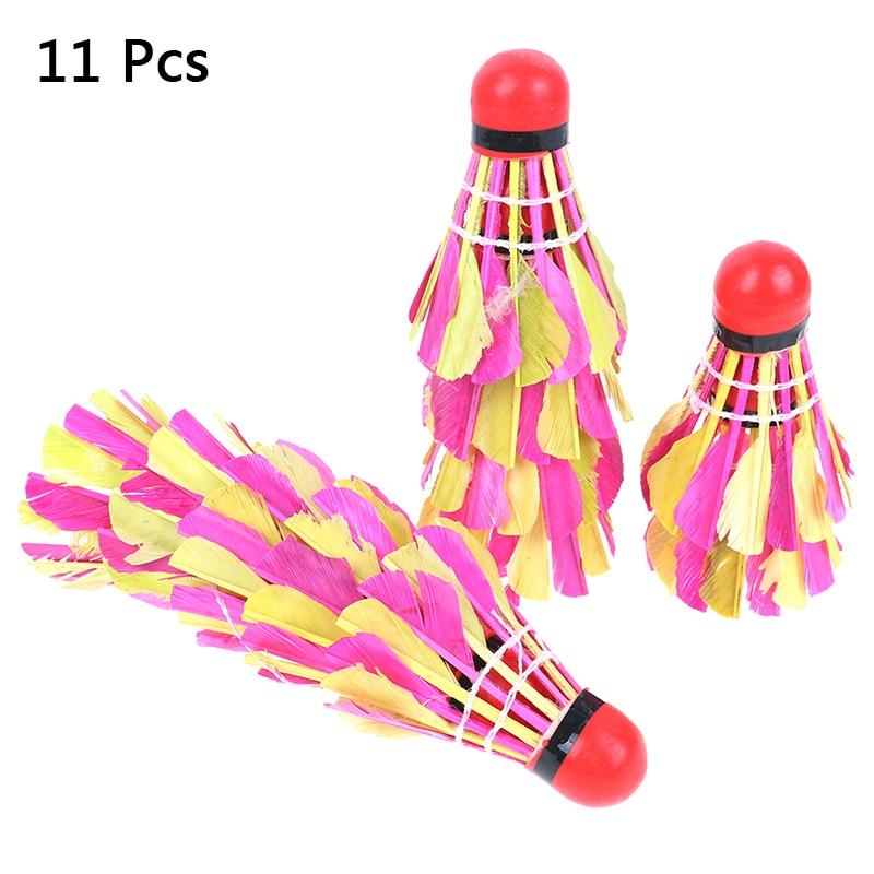 ╣Closeout DealsShuttlecock Badminton-Ball Training for Exercise Random-Color 11pcs Durable├