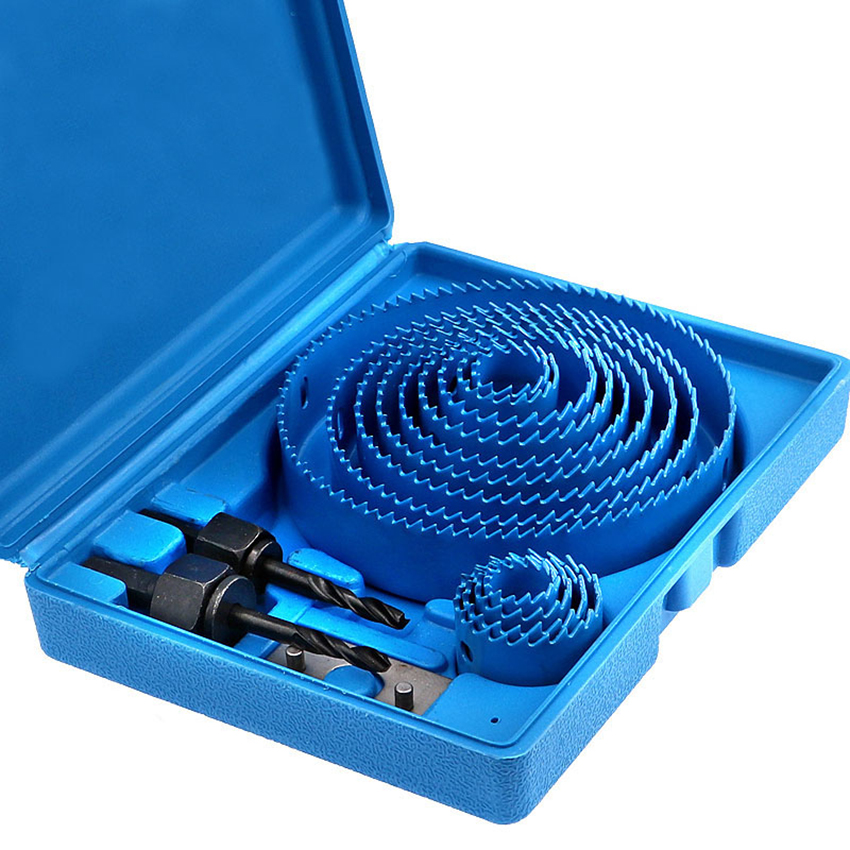 1 Set Woodworking Hole Opener Puncher Accessories Multi-functional Drill Bit Kit For PVC Board,Aluminum Plate,Plastic