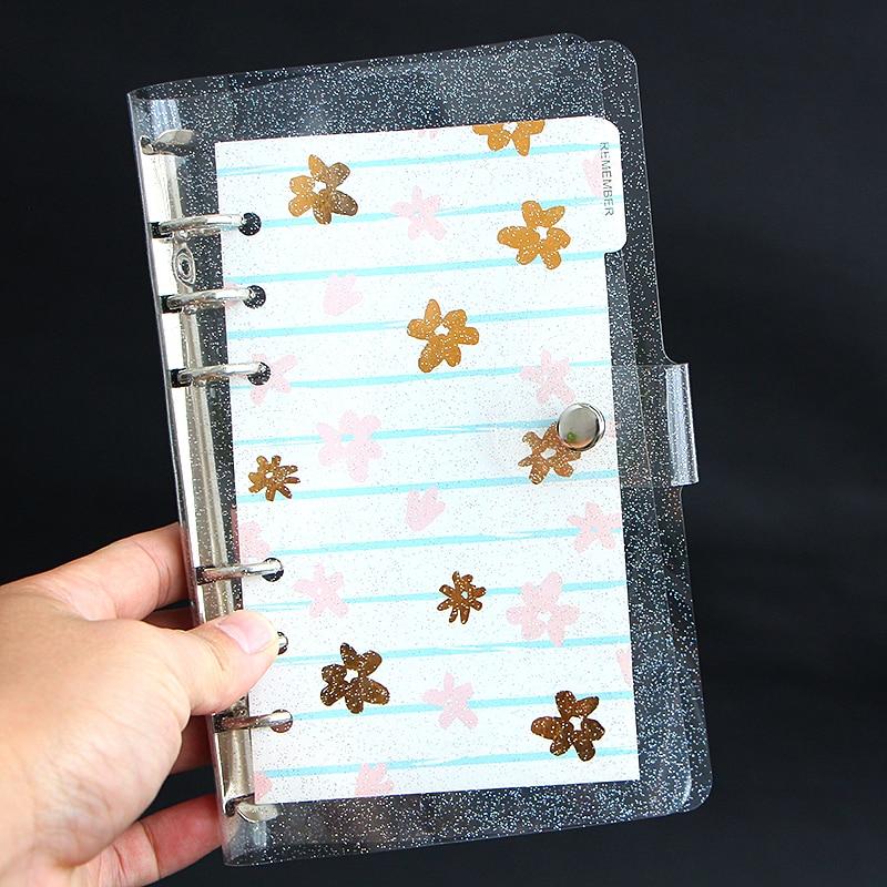 A5A6 Creative Gypsophila Notebook Cover PVC Binder 6 Hole Loose-leaf Shell Notebook Case