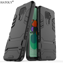 For Huawei Nova 5i Pro Case Silicone Rubber Robot Armor Hard PC TPU Back Phone Cover for