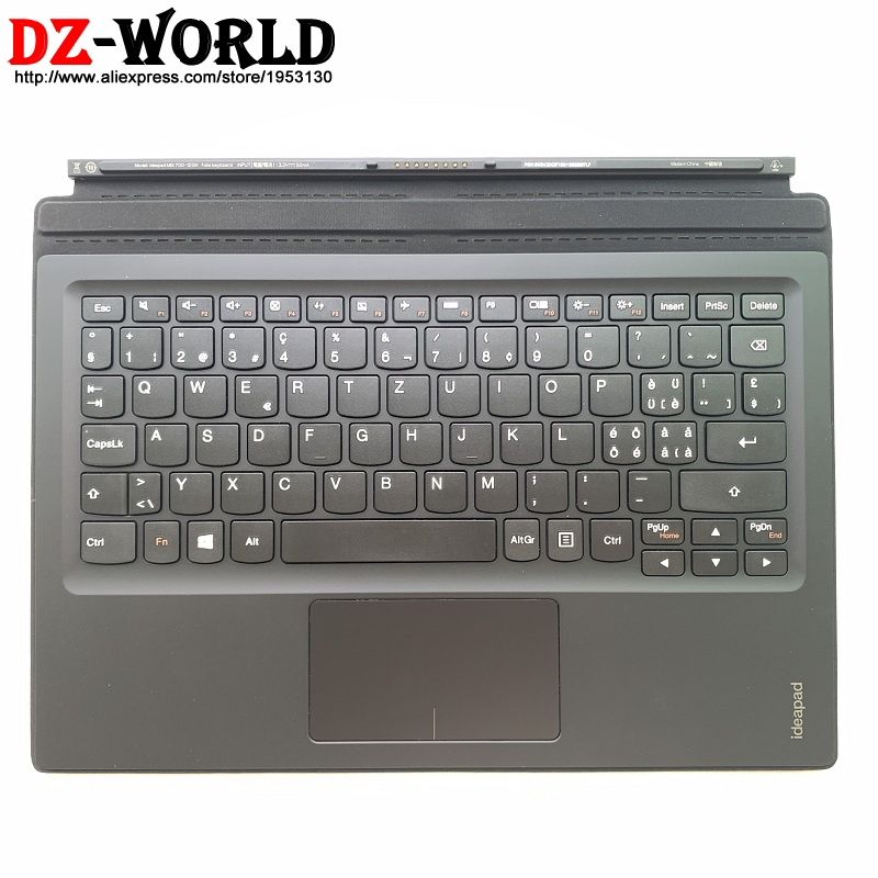 New Original Mini Base Swiss Portable Keyboard With Palmrest Touchpad For Lenovo Ideapad MIIX 700-12ISK Tablet 5N20K07180