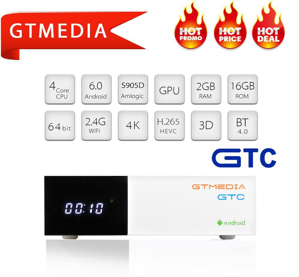 GTMEDIA-decodificador de ISDB-T GTC DVB T2 S2 C, de TV DVB-T2, sintonizador DVBT2, soporte de caja Cline M3u, decodificador inteligente