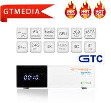 GTMEDIA GTC DVB T2 S2 C ISDB-T decoder BOX TV DVB-T2 DVBT2 Tuner android TV BOX unterstützung Cline M3u smart tv Set Top Box