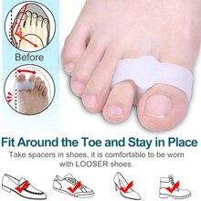 Foot-Care-Tool Corrector Separator Pedicure Thumb-Valgus-Toe Silicone Gel 2pcs Two-Hole