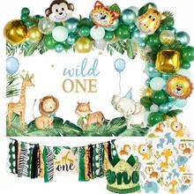 Wild One Geburtstag Party Ballon Girlande Bogen Dschungel Safari Party Wald Dekoration Kinder Erste 1st Geburtstag Dschungel Party Liefert