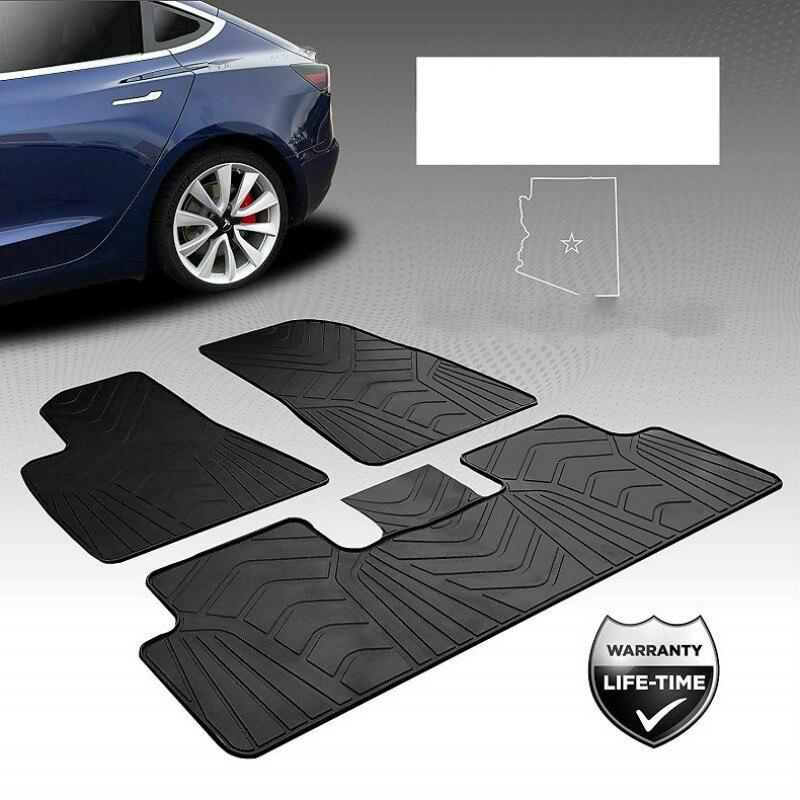 Spécial sans odeur avant et arrière 5 sièges tapis en caoutchouc imperméable tapis de sol de voiture pour Tesla modèle 3 RHD LHD conduite à droite et à gauche