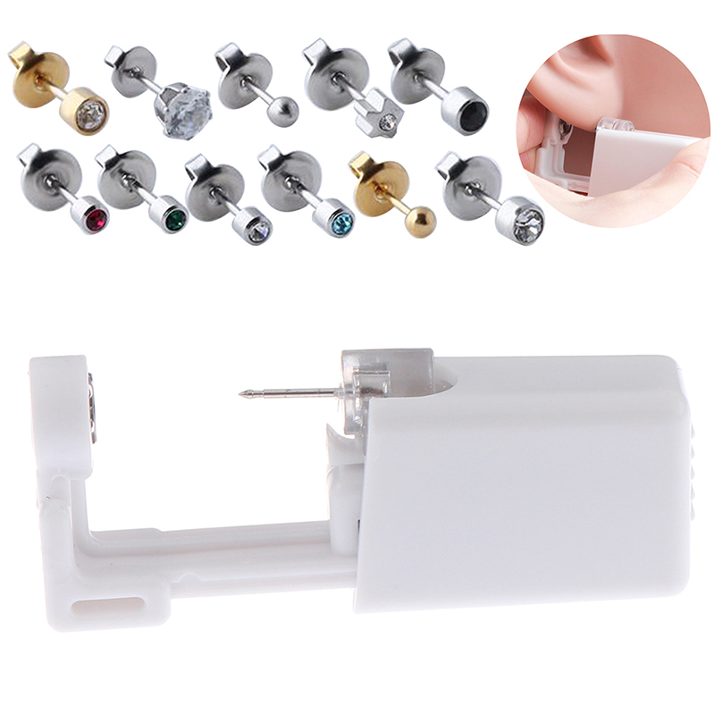 1 Units Disposable Safe Sterile Piercing Unit For Nose Studs Piercing Gun Tool Machine Kit Stud Earring Body Jewelry