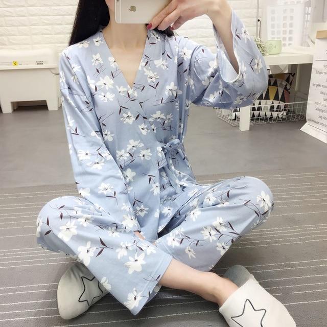 2021 Plus Size Pregnant Women's Pajamas Set For Pregnancy Spring Autumn Confinement Clothes For Postpartum Breastfeeding 2