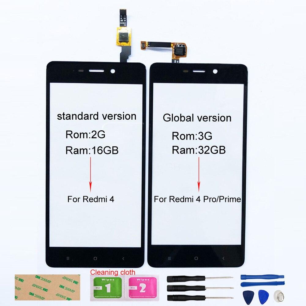 Für Xiaomi Redmi 4 Touch screen Für Xiaomi Redmi 4 Prime 4 Pro Touchscreen Digitizer Sensor Glas Panel Ersatz