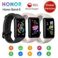 Versión Global en la banda de HONOR 6 pulsera inteligente impermeable Smartwatch con Monitor de ritmo cardíaco de oxígeno en la sangre 1.47in Pantalla AMOLED banda inteligente