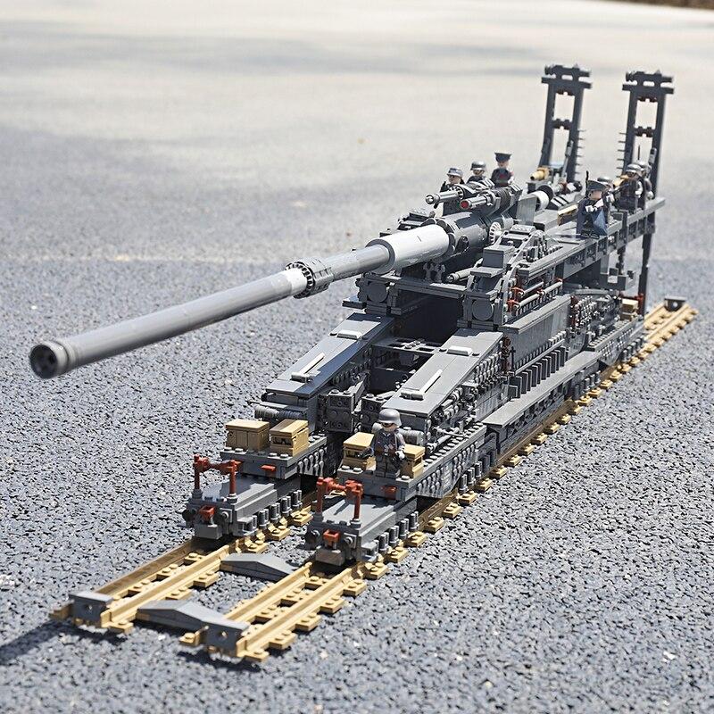 3846Pcs Building Blocks German 80cm K[E] Railway Gun