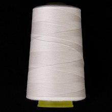Неотбеленная хлопковая швейная нить для швейной машины (белая)