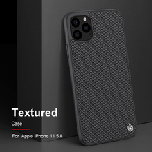 Coque pour iPhone 11 Pro Max NILLKIN texturé nylon fibre coque arrière pour iPhone 11 Pro 6.5 pouces coque de téléphone durable antidérapant