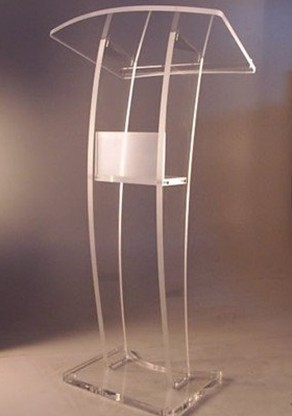 Church Acrylic Podium/Clear Acrylic Platform / Perspex Church Lectern / Plexiglass Church Pulpit