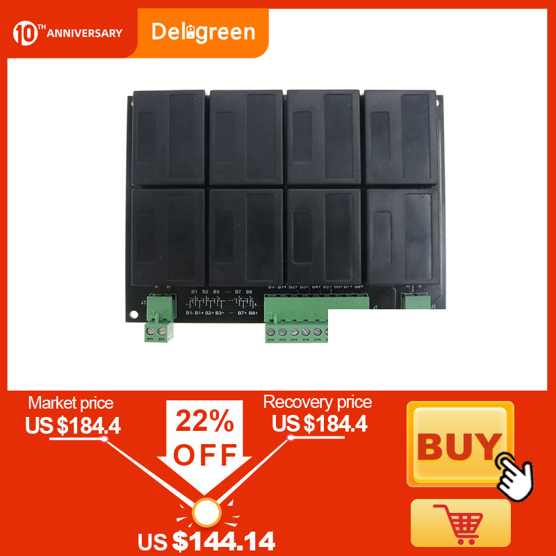 QNBBM Lithium Battery Equalizer 8S 24V Balancer Lifepo4 LTO NCM LMO 18650 DIY Pack Voltage Balancing