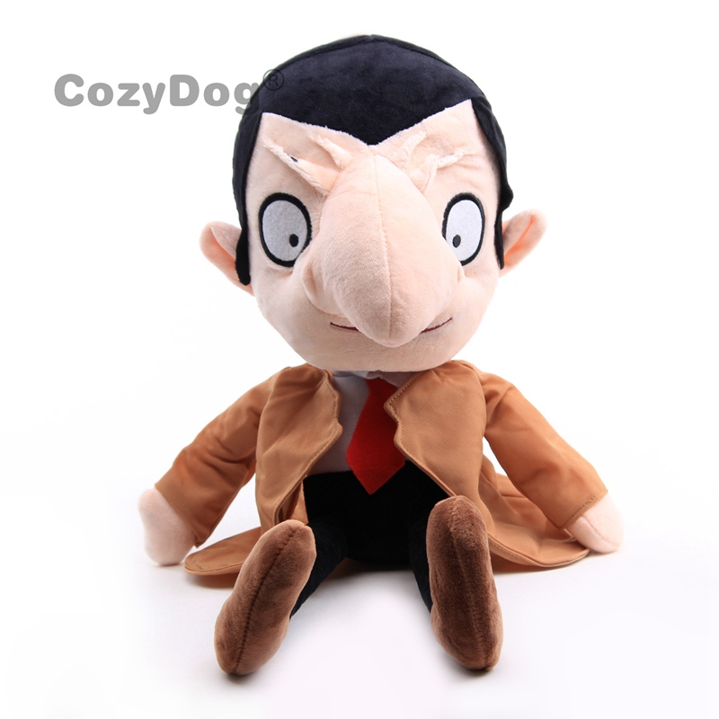 40 cm Anime Mr Bean Plush Toys Doll Peluche Big Size <font><b>Cartoon</b></font> Stuffed Animals Toys Baby Kids Birthday Party Gift image