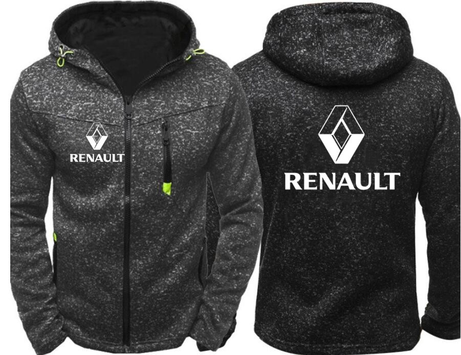 2020 Winter New Fashion Renault Hoodie Men Zipper Cardigan Hoodie Sweatshirts Casual Coat Tops