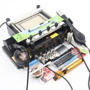 Image 5 - Gordak station de soudage numérique 3 en 1, pistolet à Air chaud, machine de retouche électrique BGA, fer à souder à infrarouge 863